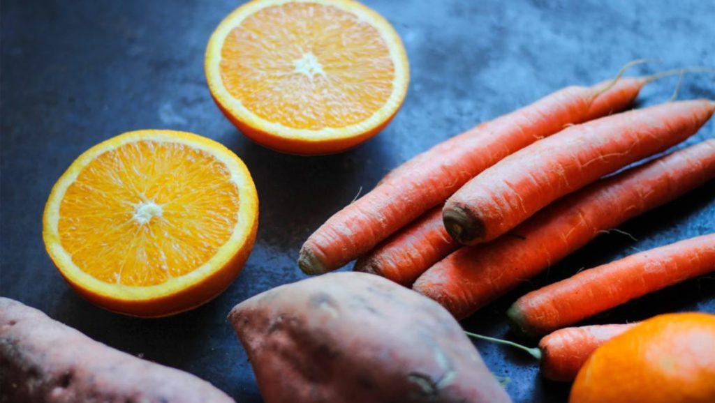 comer colorido-sano-naranja