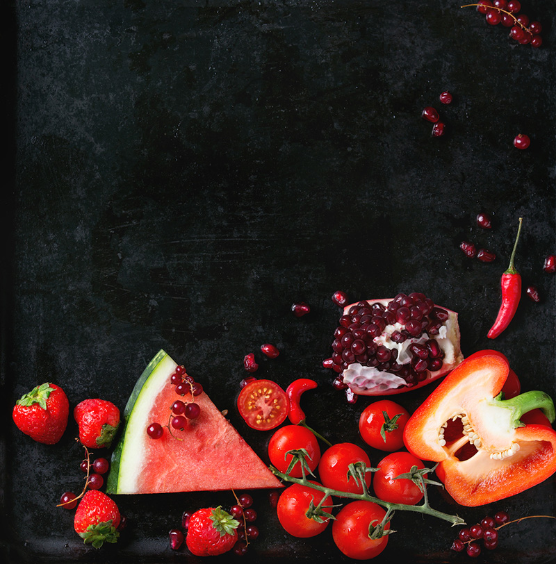 comer colorido-rojo