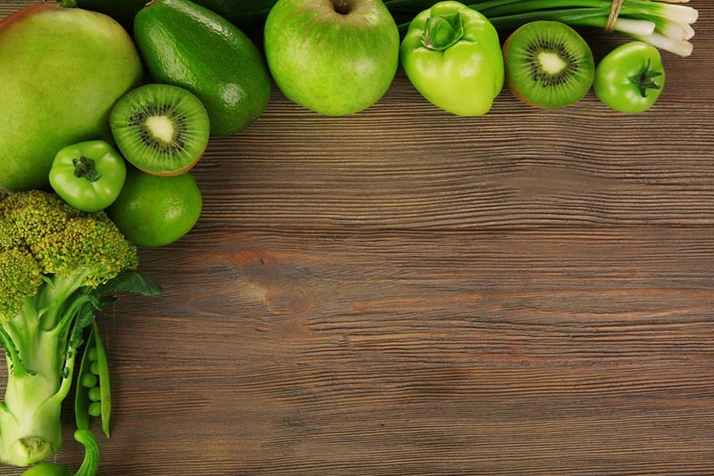 comer colorido-sano-verde